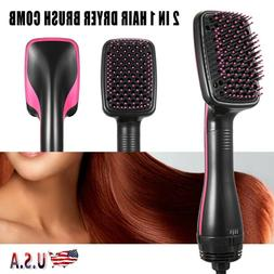 110V 2 in 1 Hair Blow Dryer+ Hot Air Styler Curling Wand Com