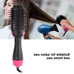 2-in-1 Electric Heat Hair Curler Straightener Brush Hot Air