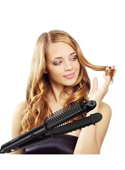 BROADCARE 2-in-1 Hot Air Styling Brush, Professional Flat Ir