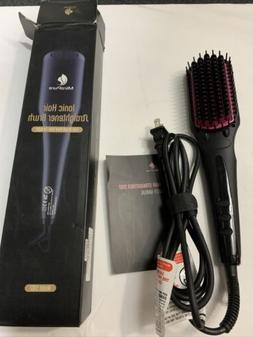 MiroPure 2-In-1 Ionic Hair Straightener Brush, Model S102 NE