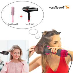 2 in 1 Straightening & Drying Hair Dryer & Volumizer Rotatin