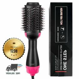 Accellorize 2 in 1 Hot Air Styling Brush, One Step Ionic Hai