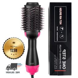2 in 1 Straightening & Drying Hair Dryer & Hair Brush Hot Ai