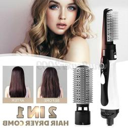 2 in1 hair dryer hair straightener curling