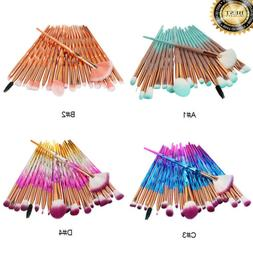 20pcs Eyeshadow Eye Shadow Foundation Blending Brush Set Mak