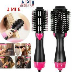 3 in1 Hair Blow Dryer Brush Comb Hot Air Hair Straightener H