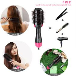 3 In1 Multifunction Hot Air Brush Hair Electric One Step Str