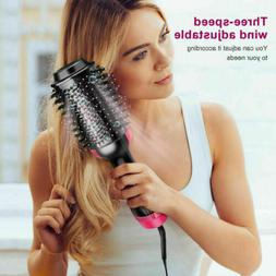 3in1 Hair Blow Dryer Brush Comb Hot Air Hair Dryer Straighte
