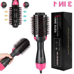 3in1 hair blow dryer brush comb hot