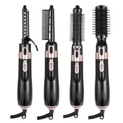 4 in 1 hair dryer hair straightener curling iron negative br