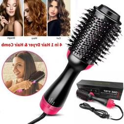 4 in1 Hair Blow Dryer Volumizer Straightener Curler Comb Inf