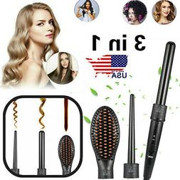 Hair Brush Hot Air Comb One Step Curler&3-In-1 Hot Air Brush