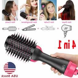 Hair Dryer Hot Air Brush Negative Ion One Step Styling Volum