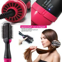 Hair Straightener Brush, Hot Air Dryer Brush🙂 One Step Ha