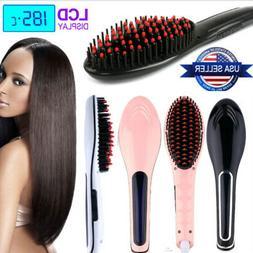 Hair Straightener Comb Electric LCD Auto Temperature Control