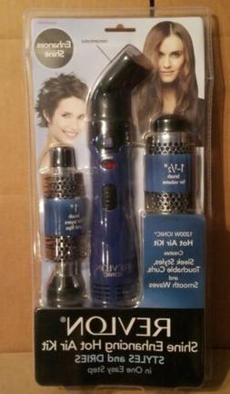 REVLON Hair Styler Dryer Shine Enhancer 2 Brush 3 Heat Setti