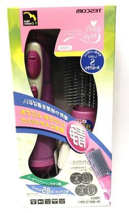 Tescom Hot Air Brush Hair Curl Dryer 700W TB61