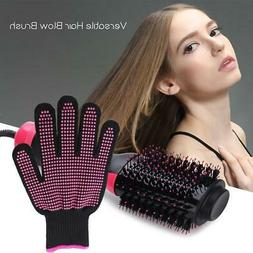 Hot Air Brush Hair Straightener BrushAnti-scalding Gloves IR