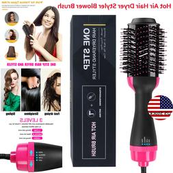 Hot Air Hair Dryer Negative Ion One Step Styling Blower Brus
