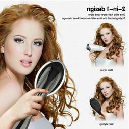 Lescolton Hair Dryer&Styler Hot Air Paddle Brush Negative Io