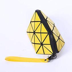 Fashion Isey Miyake PU Leather Cosmetic Bag Women MakeUp Bag