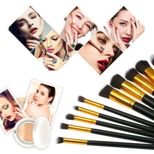 10Pc Makeup Set Cosmetic Powder Brush