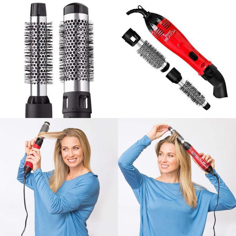1200w hot air curling iron brush styler