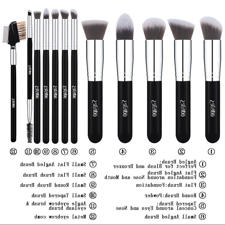 12PCS Makeup Foundation Powder Mascara US