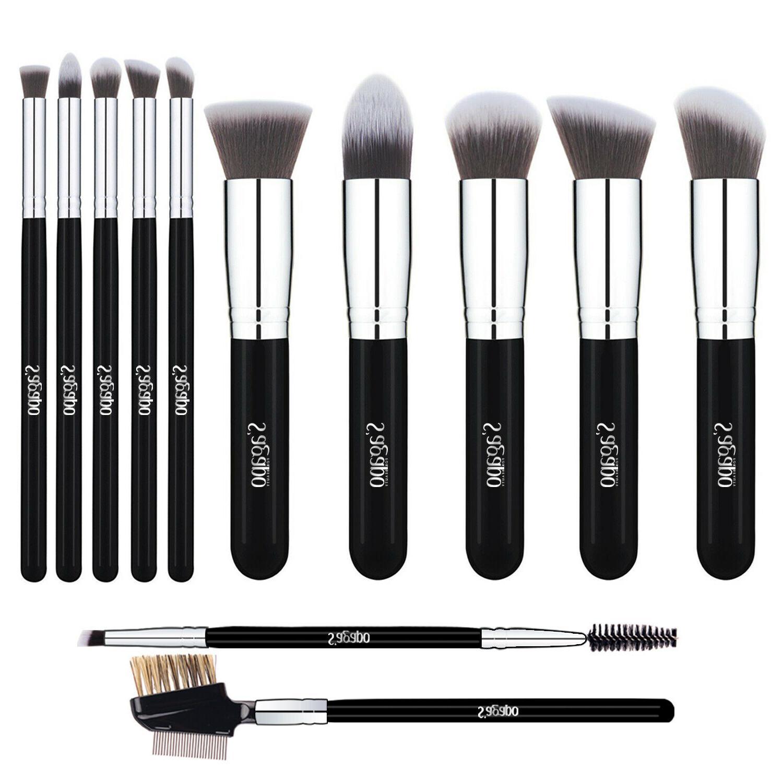 12pcs makeup brushes sets foundation lip blush
