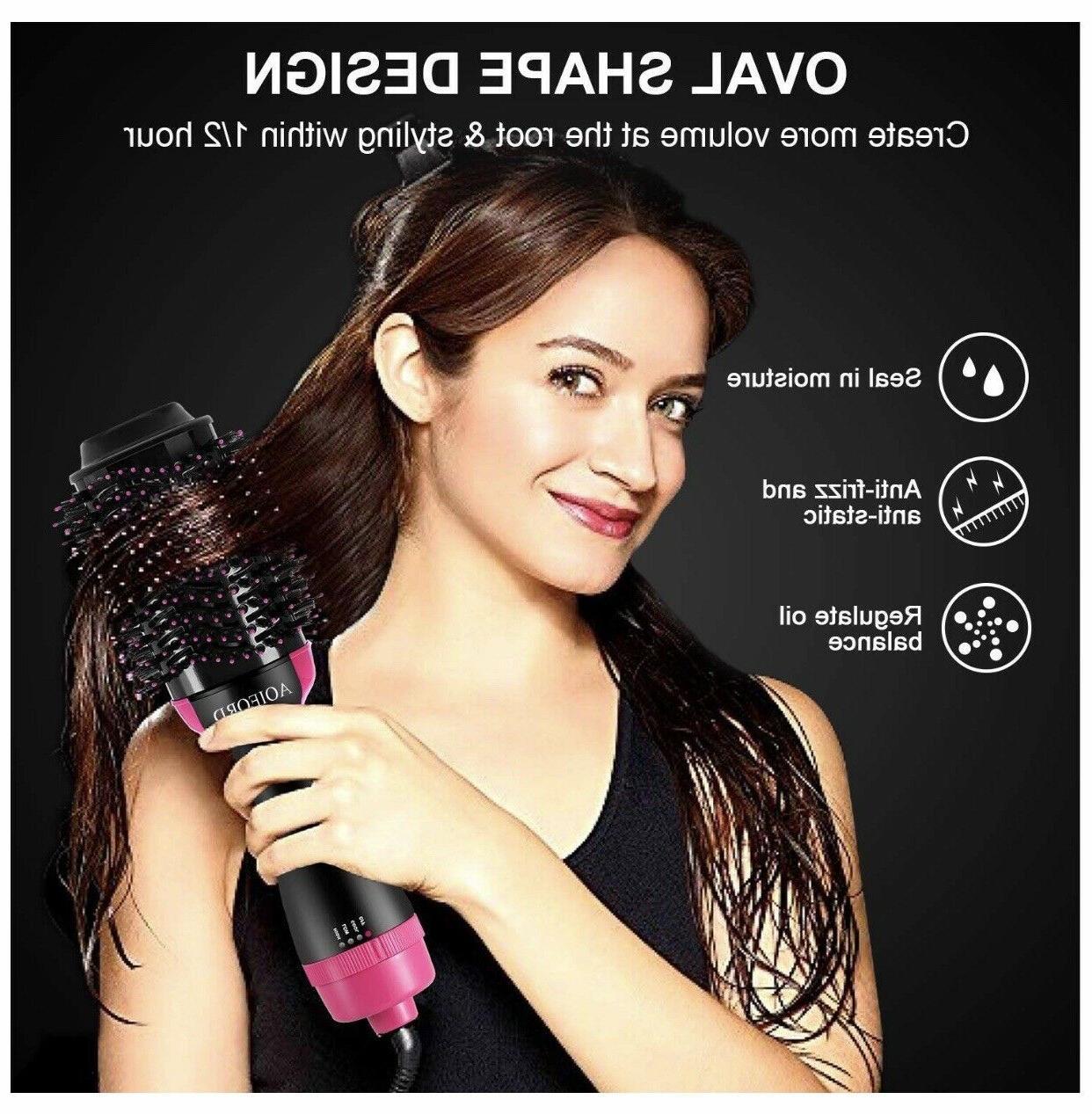 2-in-1 Hair Blow Dryer Volumizer Straightener Infrared