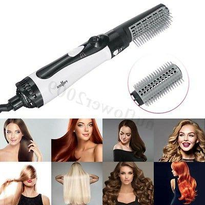 2 Hair Dryer and Volumizer Straightening Curling Iron Hot Air Comb
