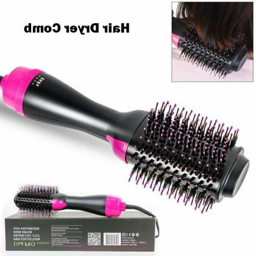 2 in Hair Dryer Straightener Curler Comb Hot Air