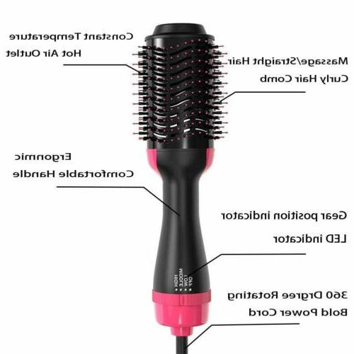 2In1 Step Hair Dryer Straightening Comb