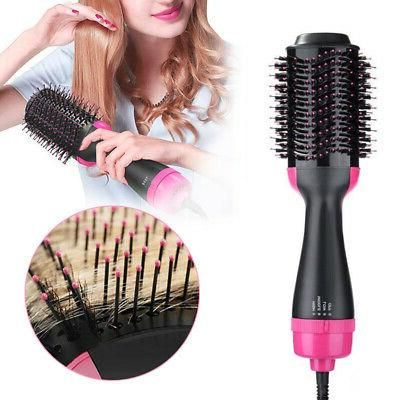 2 1 Hair Blow Comb Hot Air Dryer Styler Smooth Styling