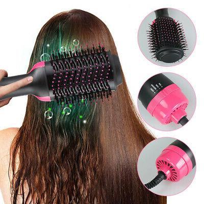 2 in Hair Dryer Brush Comb Hot Dryer Styler Smooth Styling Tool