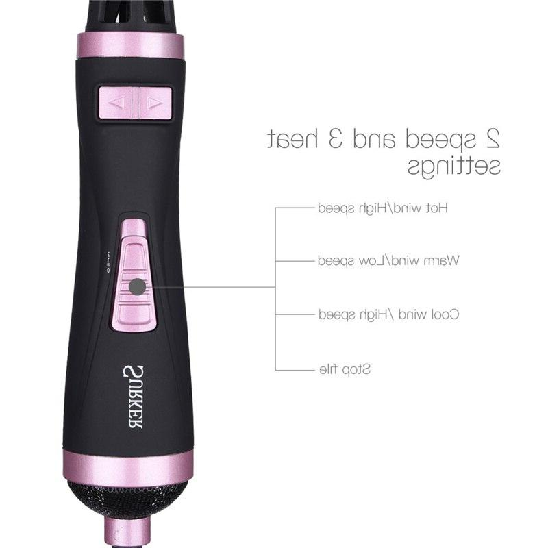 2 1 Rotating <font><b>Brush</b></font> Styler Comb Roll Styling Hair Speed Setting