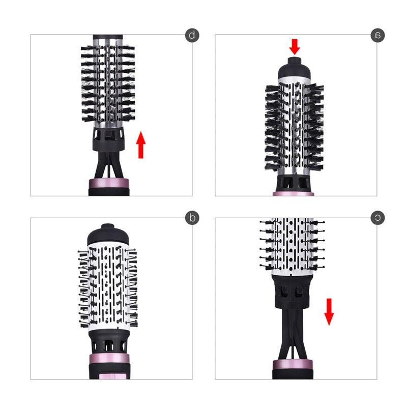 2 <font><b>Brush</b></font> Hot Air Comb Curling Roll Styling <font><b>Brush</b></font> Hair <font><b>Dryer</b></font> <font><b>Blow</b></font> With Nozzles 2 Speed & 3 Setting