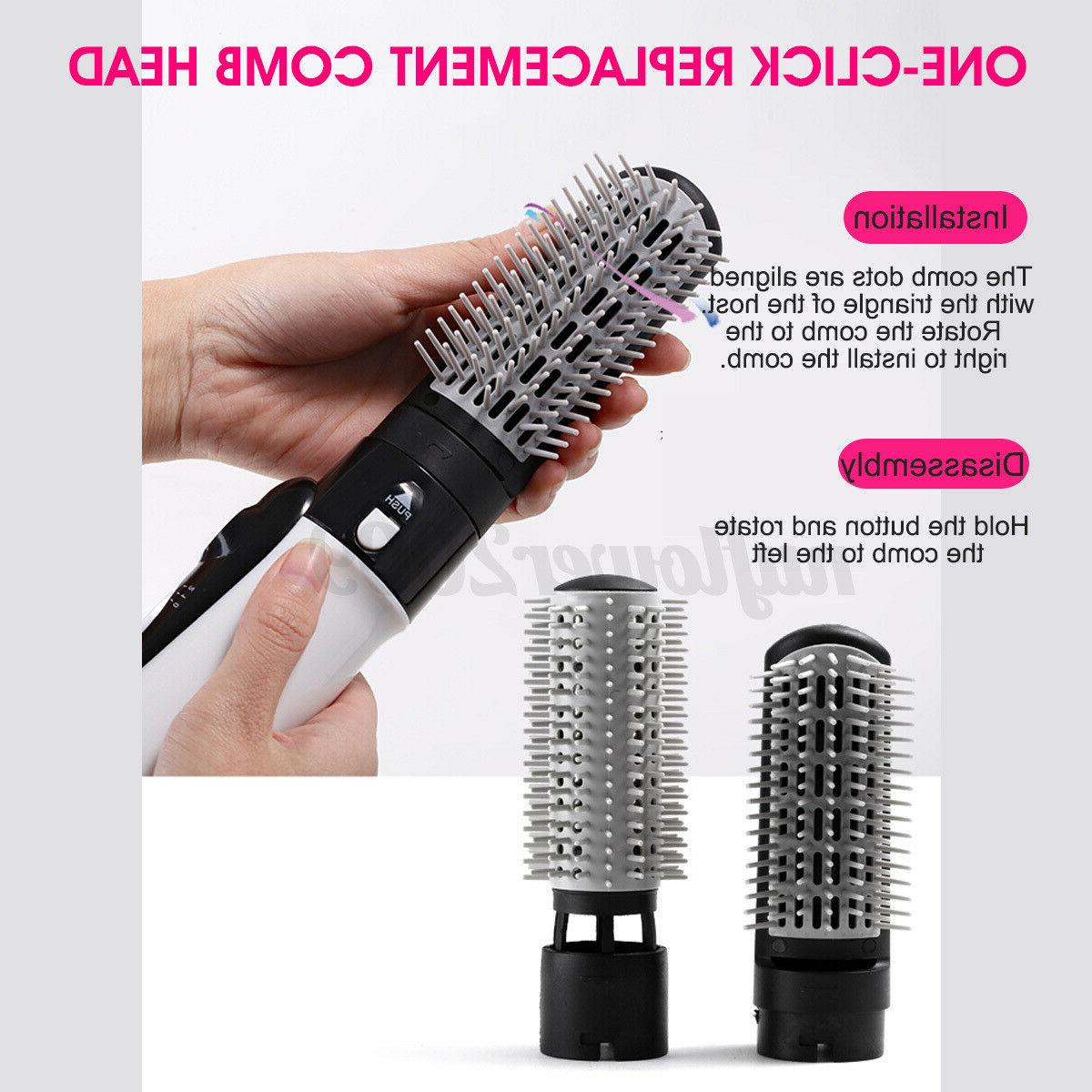 2 Hair Curling Negative Brush Air Comb