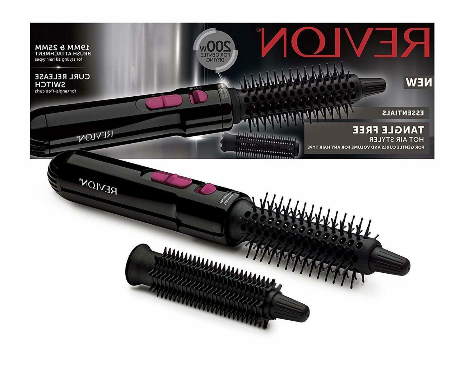 Revlon 200W Hot Air Brush Tangle Free Styler Gentle Curls Vo