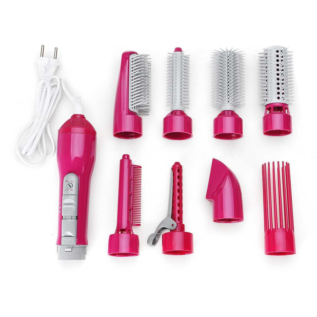 220V 8-in-1 Hair Curler Straightener Curling <font><b>Hot</b></font> <font><b>Air</b></font> Styler Curler Roller Curls