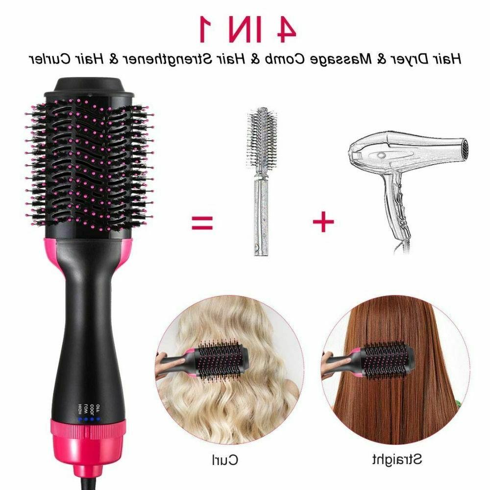 Hair Dryer Brush 2in1 Straightener and Air Comb
