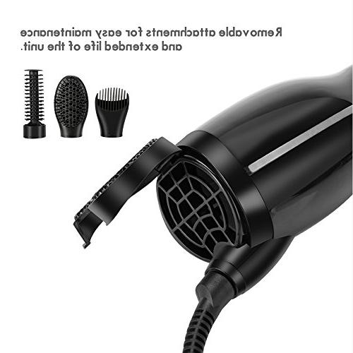 3 1 Rotating Hair Dryer Diffuser, Negative Hot Air Salon Comb for Curling Wave Drying