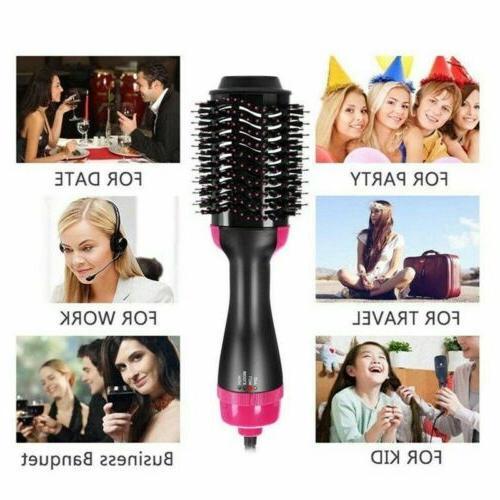 3in1 Brush Comb Hot Hair Straightener