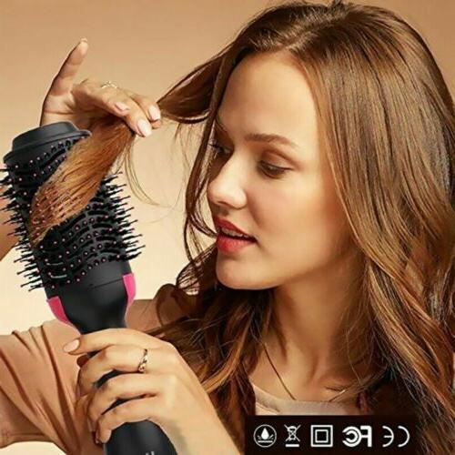 3in1 Blow Dryer Brush Hot Hair Straightener Tool Beauty