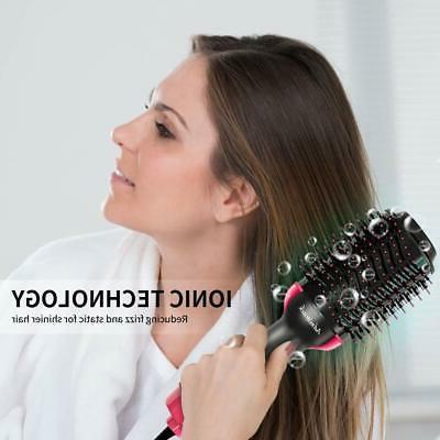 3-IN-1 Negative Dryer Volumizer Brush Hair Types Antifrizz