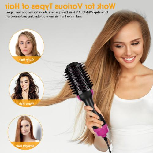 3-in-1 Hot Comb Straight Curler Wet/Dry Heat 1000W US