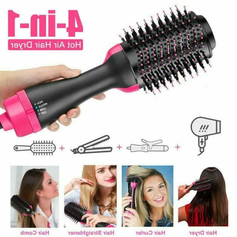 Hot Air Hair Dryer Brush One Step Volumizer With Negative Io