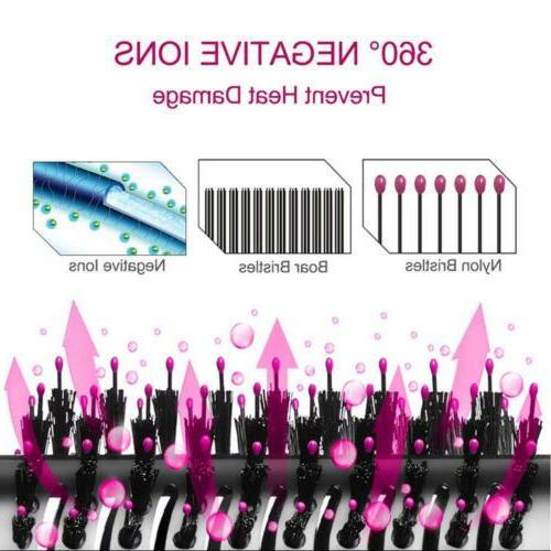 3In1 Dryer & Volumizer Brush Straightening Hot Air Styler