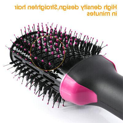 3in1 Hot Air Hair Straightener Comb Dryer Brush