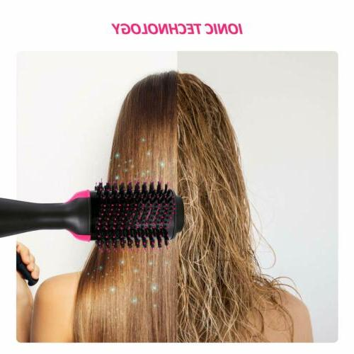 3in1 Hot Air Hair Dryer Volumizer Straightening Comb